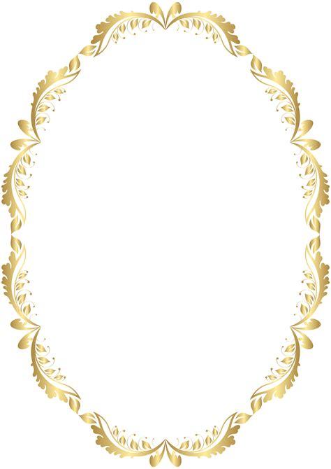 transparent oval frames golden oval border transparent png clip art anandhakumar