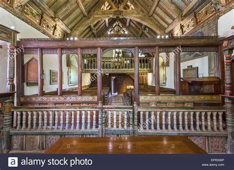 rug chapel the ornate interior of rug chapel near corwen denbighshire wales stock photo royalty free