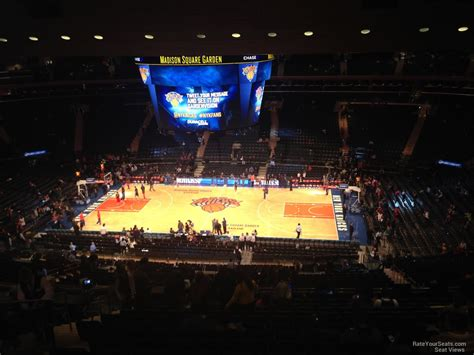 msg section 2 madison square garden section 225 new york knicks