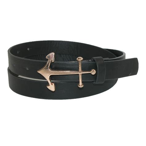 womens anchor buckle dress belt by cilla collection