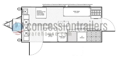 concession trailer floor plans mobile kitchens for sale concession nation