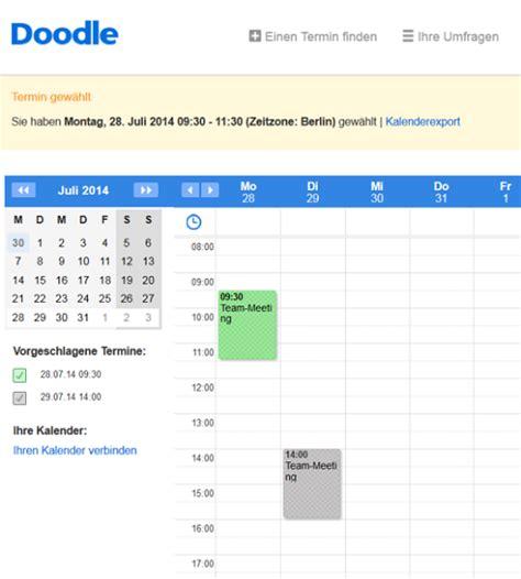 doodle umfrage erstellen anleitung kalender gemeinsam nutzen alles 252 ber android