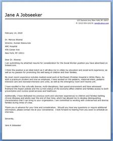 Resume Cover Letters That Work cover letter exle social worker covering letter exle