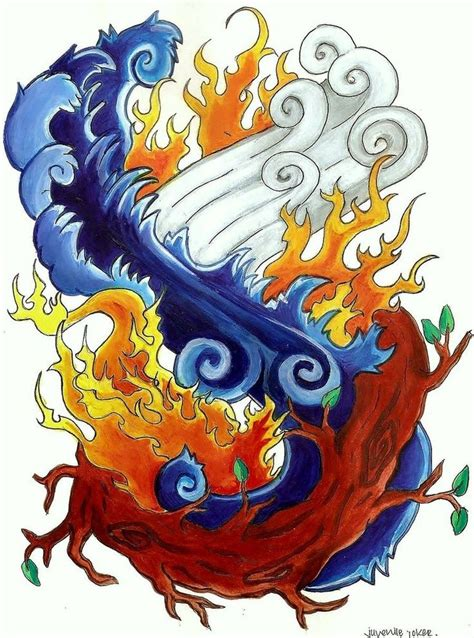 four elements tattoo 25 best ideas about four elements on