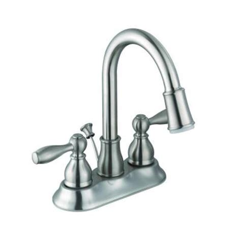 glacier bay bathroom hot faucet replacement handle in chrome a66e498hcp the home depot glacier bay mandouri 4 in centerset 2 handle led high arc