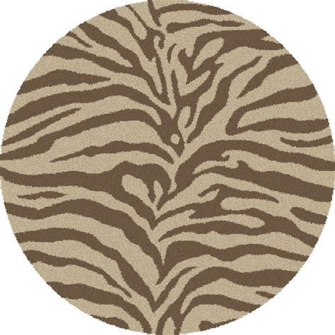 Home Decorators Collection Seascape Natural 6 Ft Round Animal Rug