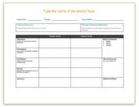 lesson plan template for word lesson plan templates save word templates