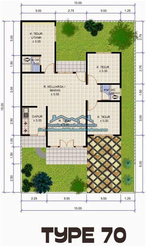 denah rumah minimalis type   lantai minimalist house pinterest