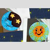 Day and Night Hanging Décor Craft | Kids' Crafts | FirstPalette.com