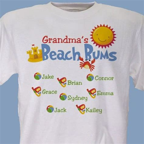 beach bums personalized t shirts you love being a mom