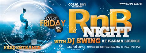 swing dj rnb night with dj swing at coral bay events