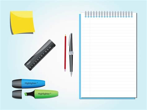 office desk items office desk items vector pack vector free