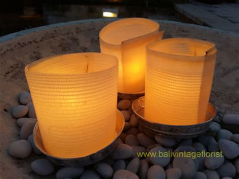 Jual Candle by Candle Light With Banana Trunk Bali Vintage Florist