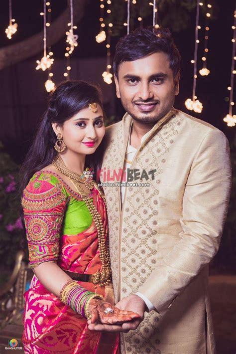 with photos photos amulya gets engaged with jagadeesh photos