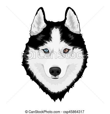 Husky Sib 233 Rien Chien Dog Husky Multi Color 233 Sib 233 Rien Clipart Vectoris 233 Recherchez Husky Cake Template