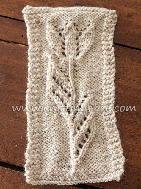 knitting k1tbl tulip motif knitting knitting bee