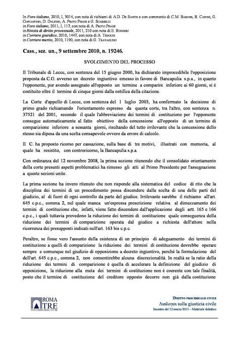 opposizione decreto ingiuntivo opposizione decreto ingiuntivo e termini c cass n