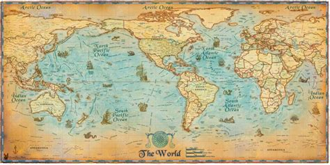 Wall Sticker Map Of The World online buy wholesale maps sea from china maps sea