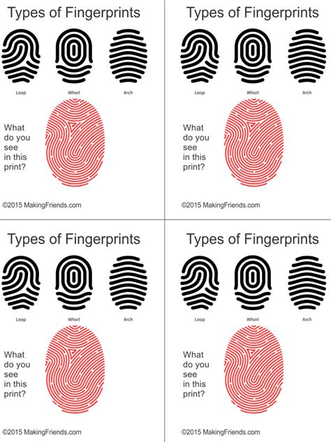 printable detective games printable fingerprint types for junior detective clue game