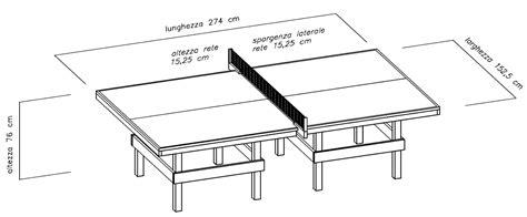 dimensione tavolo ping pong costruire facile