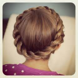 crown hairstyles crown rope twist braid updo hairstyles cute girls