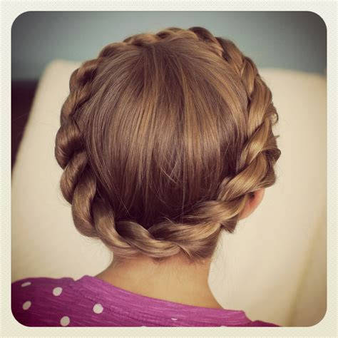 types of crown on head for hair styles crown rope twist braid updo hairstyles cute girls