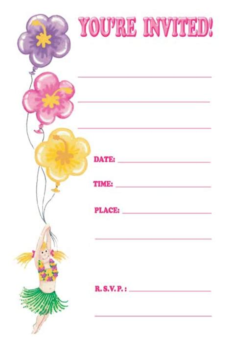 template birthday invitation tropics express templates