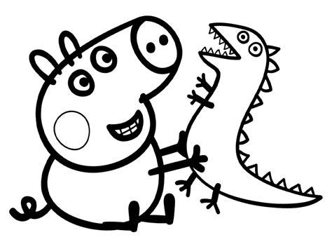 imagenes en blanco para pintar dibujos para colorear de peppa pig