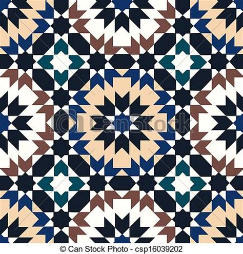 Morrocan Design by Vector Clipart Of Seamless Islamic Geometric Pattern Csp16039202 Search Clip Art Illustration