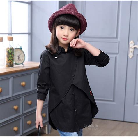 Gifts Princess Sleeve Blouse clothes 2016 children clothing princess sleeve child shirt school blouse