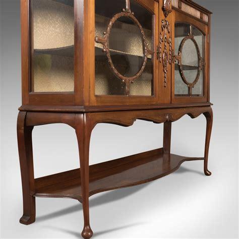 Antique Walnut Display Cabinets Uk Antique Glazed Display Cabinet English Walnut English