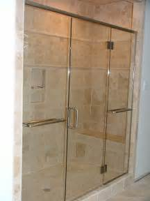 frameless glass shower door installation in chesapeake