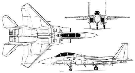 F Drawing Design by F 15 鹰 Eagle 三视图 爱空军 Iairforce