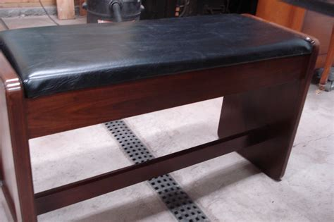 organ bench solid walnut vintage style organ bench heavy contruction