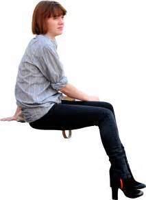 person sitting in chair sitting side on architextures