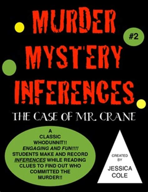 lesson plan for murder a master class mystery master class mysteries books inferences murder mystery the of mr crane by