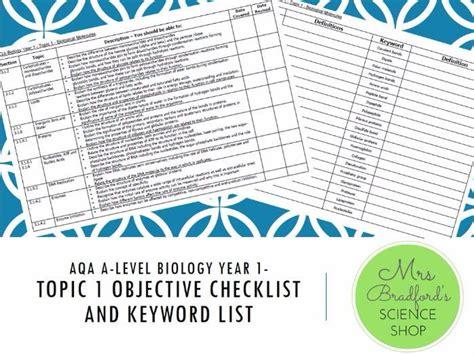 A Level Biology Essay Topics by Mrs Bradford S Science Teaching Resources Teaching Resources Tes