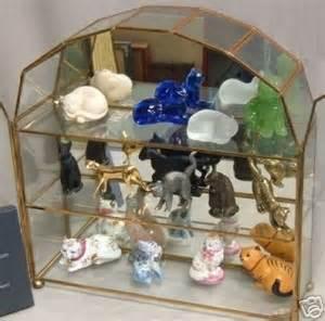 Curio Cabinet Figurines Set Franklin Mint Curio Cabinet Cats Figurines Nr