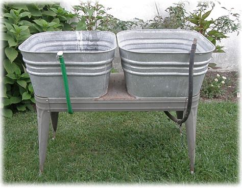 galvanized laundry sink with stand wash tub on stand befon for