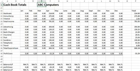 cash book layout excel free excel cash book exle for business