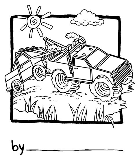 coloring page tow truck free coloring pages of tow