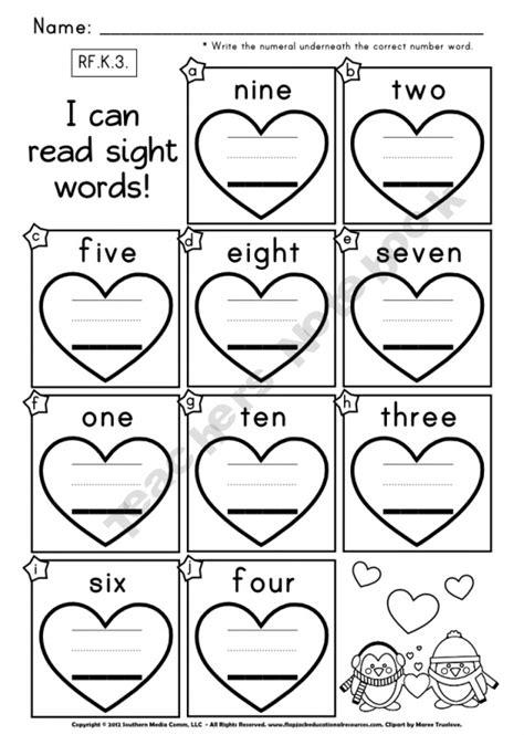 printable worksheets numbers in words free heart number words worksheet kindergarten math