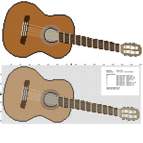 download pattern real guitar 7 best images about cross stitch guitar pattern on