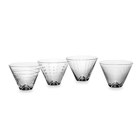 martini glasses cheers mikasa 174 cheers stemless martini glasses set of 4 bed