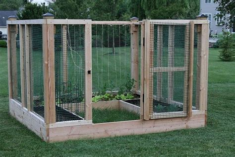 Garden Enclosure Ideas Diy Raised Bed Garden Enclosure