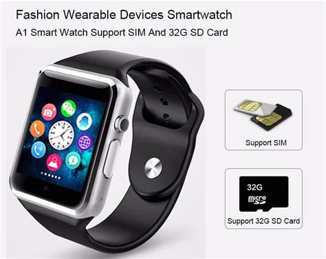 Smartwatch A1 U10 Support Simcard And Slot Memory a1 smart black paybest