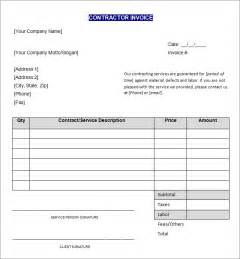 contractor invoice template doc 25503300 contractor invoice template word