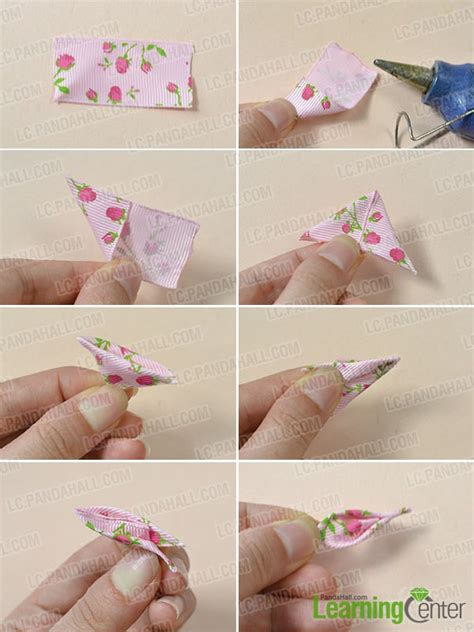 How To Make Handmade Flowers From Ribbon - handmade ribbon flowers step by step www pixshark