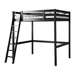 Stor 197 loft bed frame black length 203 cm distance from floor to bed