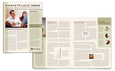 Finance Newsletter financial planner newsletter template word publisher